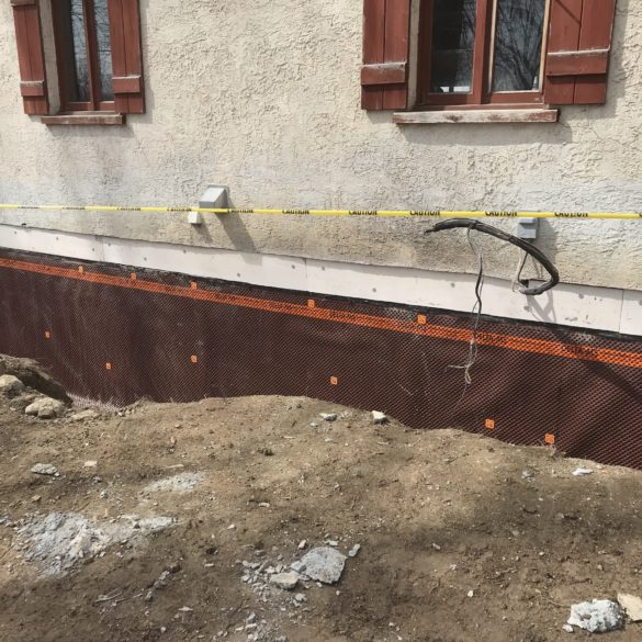 REPLACING OF FOUNDATION WALL AND STRUCTURAL STRENGTHENING